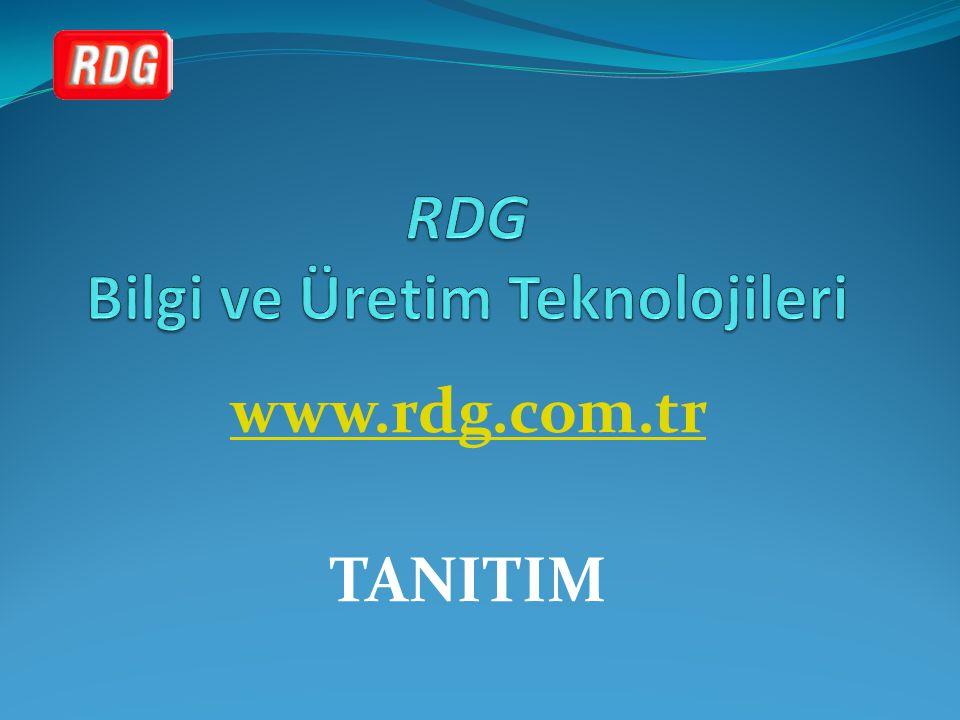 www.rdg.com.tr TANITIM