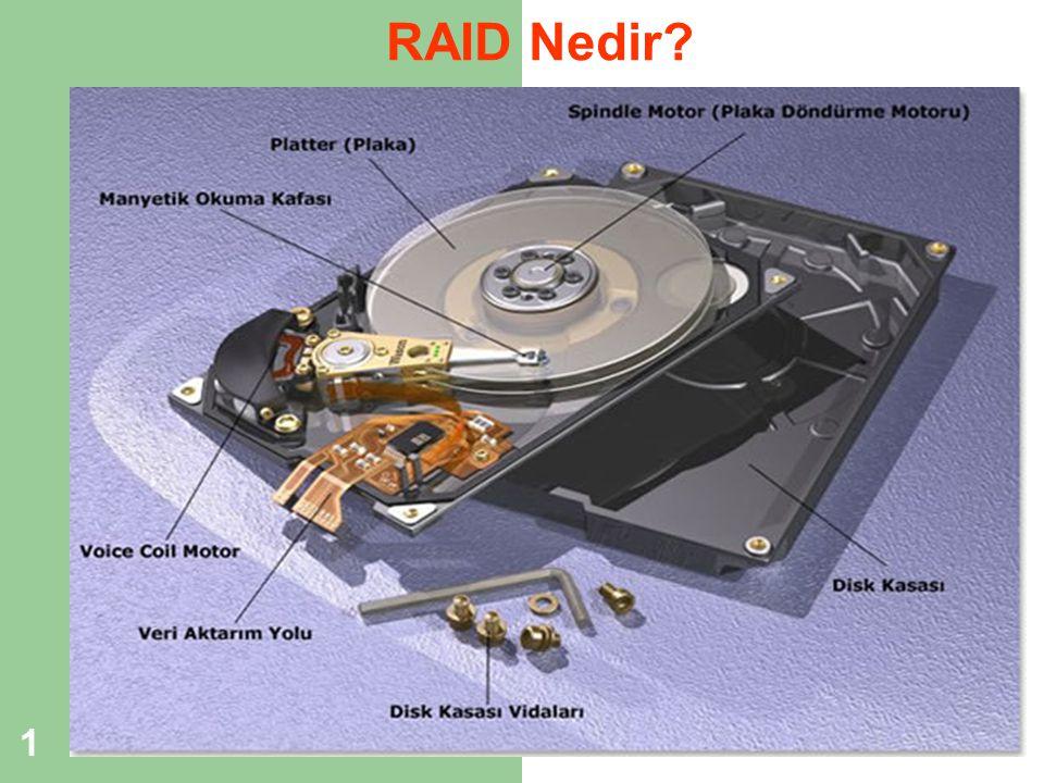 2 RAID (Redundant Array of Independent Disks) Nedir.