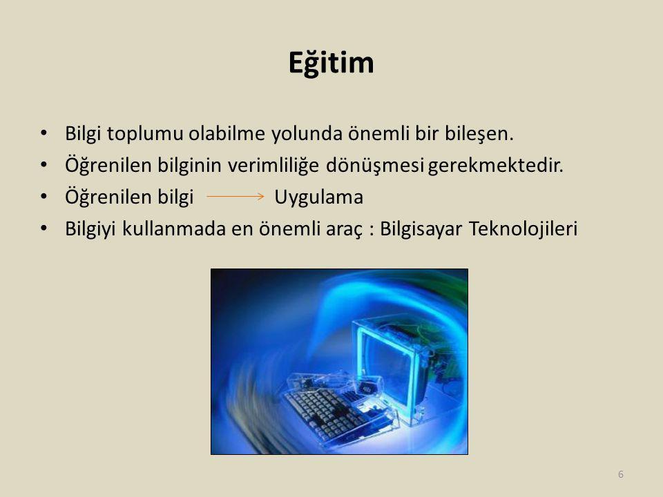 Eğitim Ortaöğretimde Bilgisayar Başına Öğrenci Sayısı, 2010 Kaynak : Devlet Planlama Teşkilatı Müsteşarlığı, Bilgi Toplumu Dairesi Başkanlığı, DPT Yayın No: 2826 7