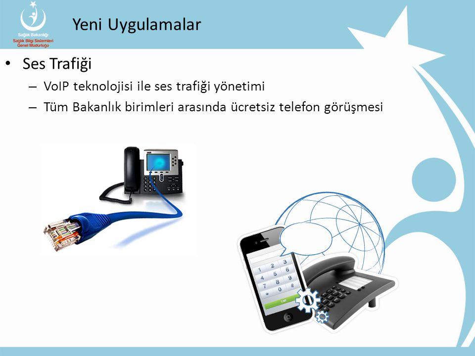 Yeni Uygulamalar Ses Trafiği – VoIP teknolojisi ile ses trafiği yönetimi – Tüm Bakanlık birimleri arasında ücretsiz telefon görüşmesi