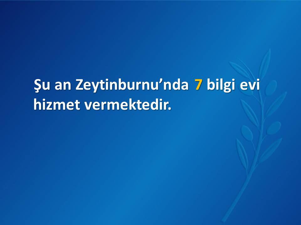 Şu an Zeytinburnu'nda 7 bilgi evi hizmet vermektedir.