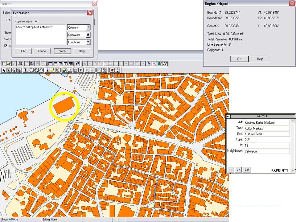 24 Raster yapıdaki veriler kullanılarak yapılan analiz işlemleridir.