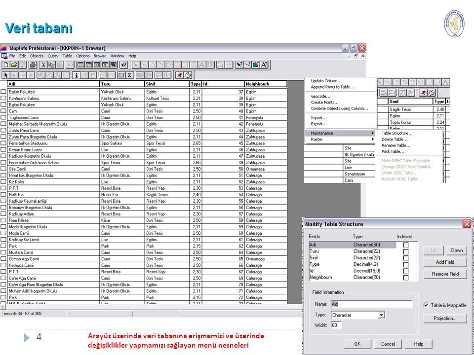 Mekansal Analiz (Spatial Analysis) 15 Üç çeşit mekansal analiz işlemi vardır.