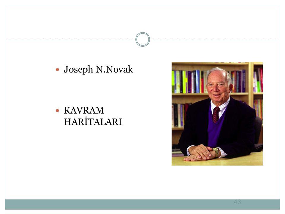 43 Joseph N.Novak KAVRAM HARİTALARI
