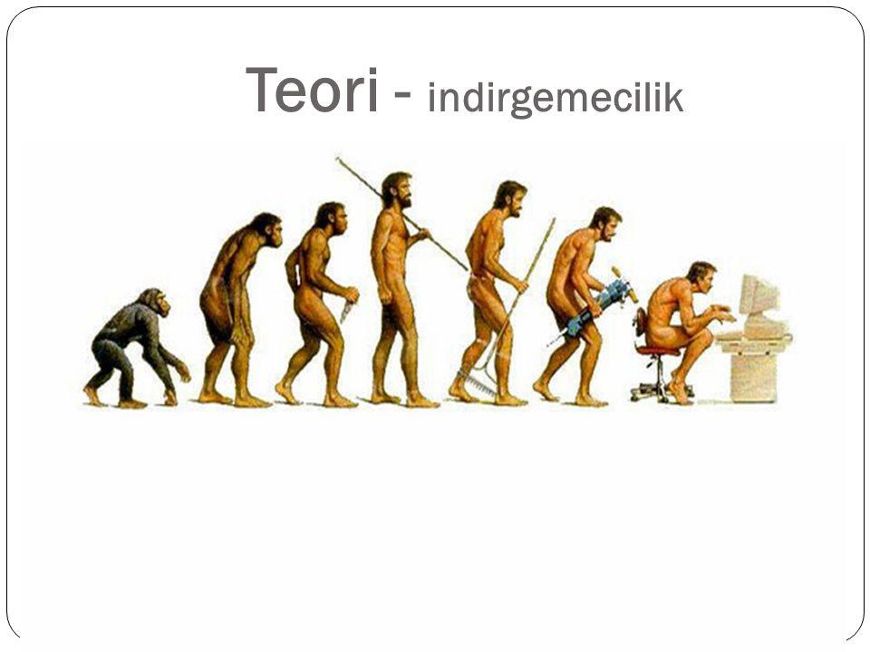 Teori - indirgemecilik Evrim teorisi Evrim cansızdan canlıya dönüşümdür .