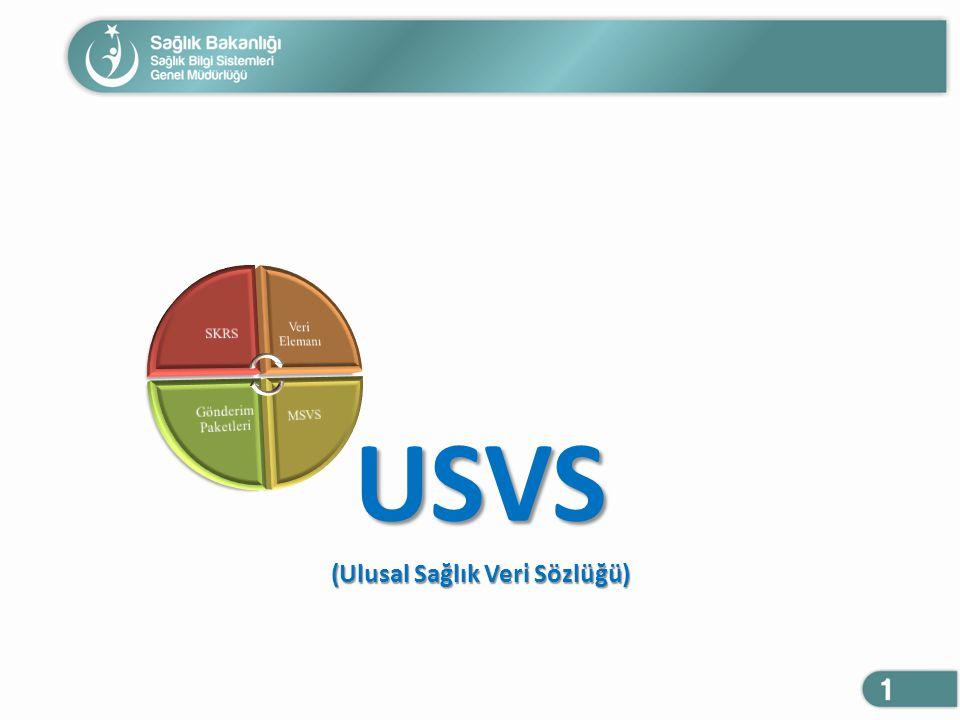 USVS (Ulusal Sağlık Veri Sözlüğü)