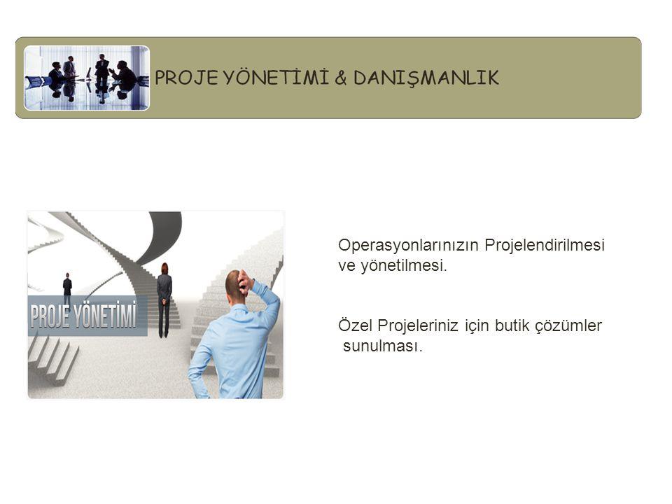 Operasyonlarınızın Projelendirilmesi ve yönetilmesi.