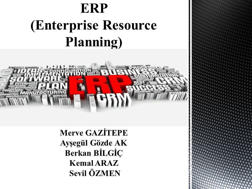 BAŞLICA ERP MODÜLLERİ  Lojistik - Ürün ağaçları - Rotalar -Satınalma - Envanter yönetimi MRP -Ürün maliyetlendirme  CRM (Customer Relationship Management) - Müşteri ilişkileri yönetimi