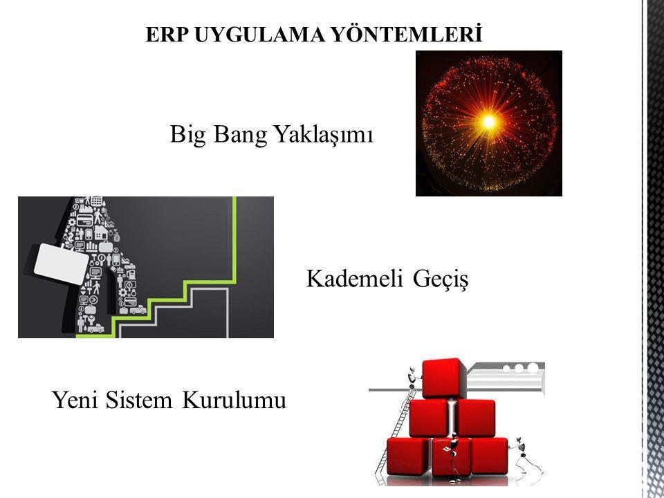 Big Bang Yaklaşımı Kademeli Geçiş Yeni Sistem Kurulumu ERP UYGULAMA YÖNTEMLERİ