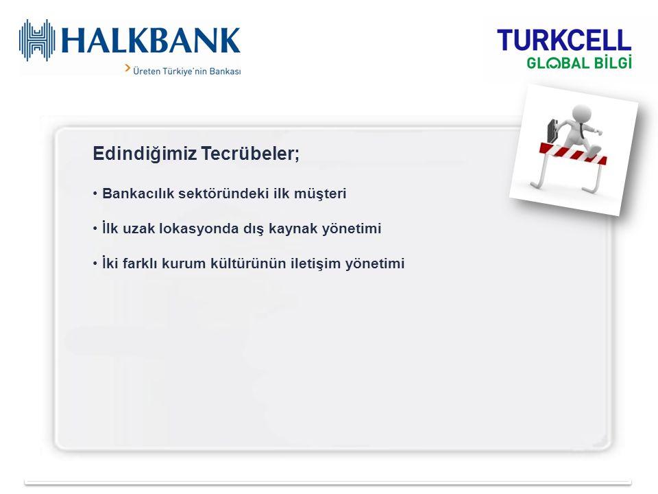 Edindiğimiz Tecrübeler; Bankacılık sektöründeki ilk müşteri İlk uzak lokasyonda dış kaynak yönetimi İki farklı kurum kültürünün iletişim yönetimi