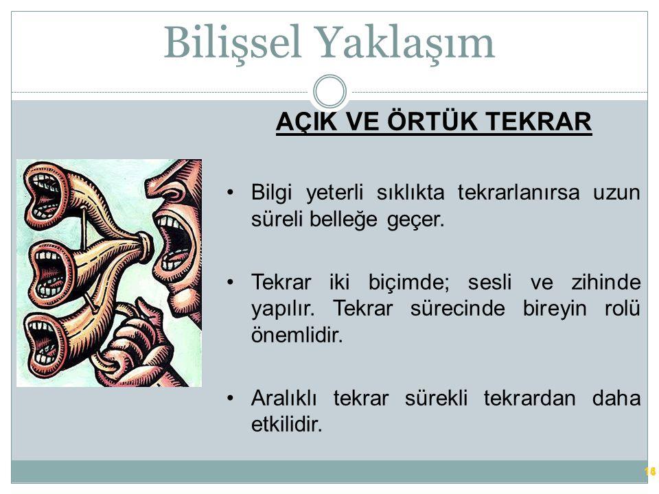 Bilişsel Yaklaşım 13 ALGI Duyusal bilginin yorumlanması ya da anlamlandırılması işlemidir.