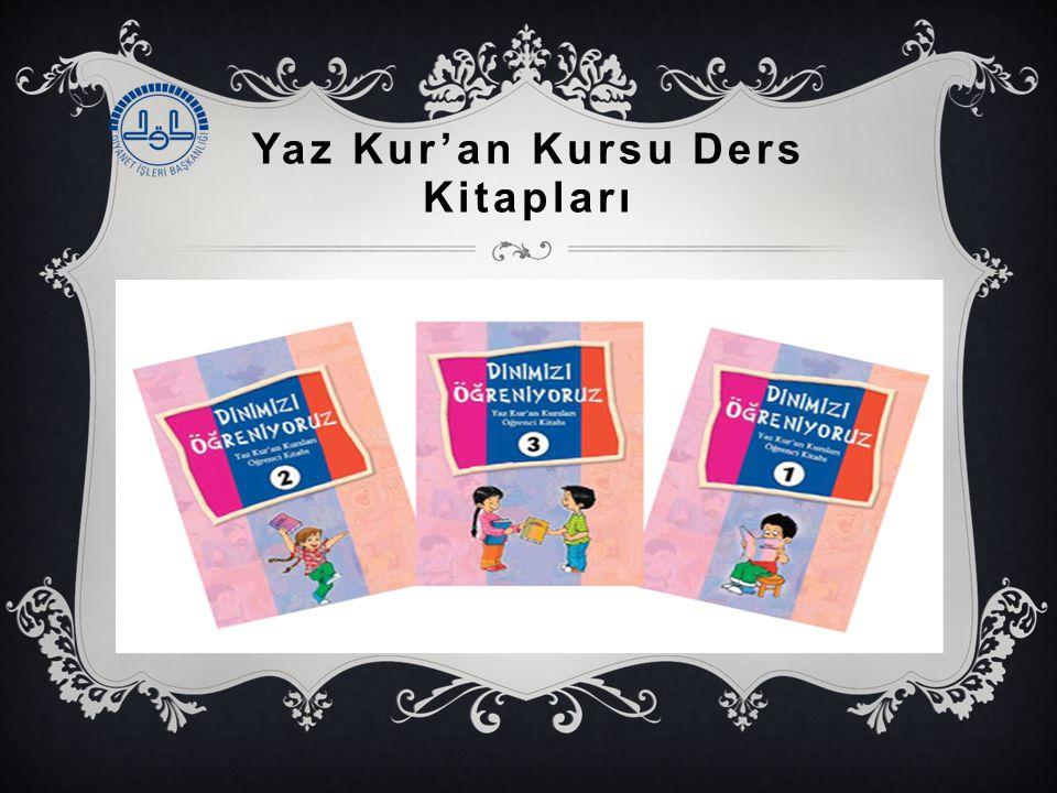 Yaz Kur'an Kursu Ders Kitapları 3.Dinimizi Öğreniyoruz: Yaz Kur'an Kursları Öğrenci Kitabı-1-2-3