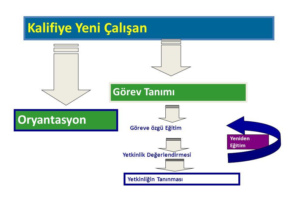 Oryantasyon Yetkinlik Değerlendirmesi Göreve özgü Eğitim Yetkinliğin Tanınması Görev Tanımı Kalifiye Yeni Çalışan Yeniden Eğitim