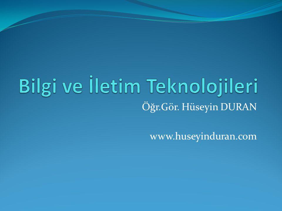 Öğr.Gör. Hüseyin DURAN www.huseyinduran.com