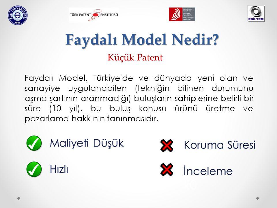 Faydalı Model Nedir? Küçük Patent Faydalı Model, Türkiye'de ve dünyada yeni olan ve sanayiye uygulanabilen (tekniğin bilinen durumunu aşma şartının ar
