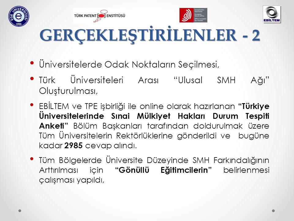 """Üniversitelerde Odak Noktaların Seçilmesi, Türk Üniversiteleri Arası """"Ulusal SMH Ağı"""" Oluşturulması, EBİLTEM ve TPE işbirliği ile online olarak hazırl"""