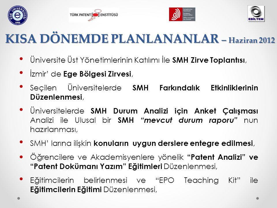 Üniversite Üst Yönetimlerinin Katılımı İle SMH Zirve Toplantısı, İzmir' de Ege Bölgesi Zirvesi, Seçilen Üniversitelerde SMH Farkındalık Etkinliklerini