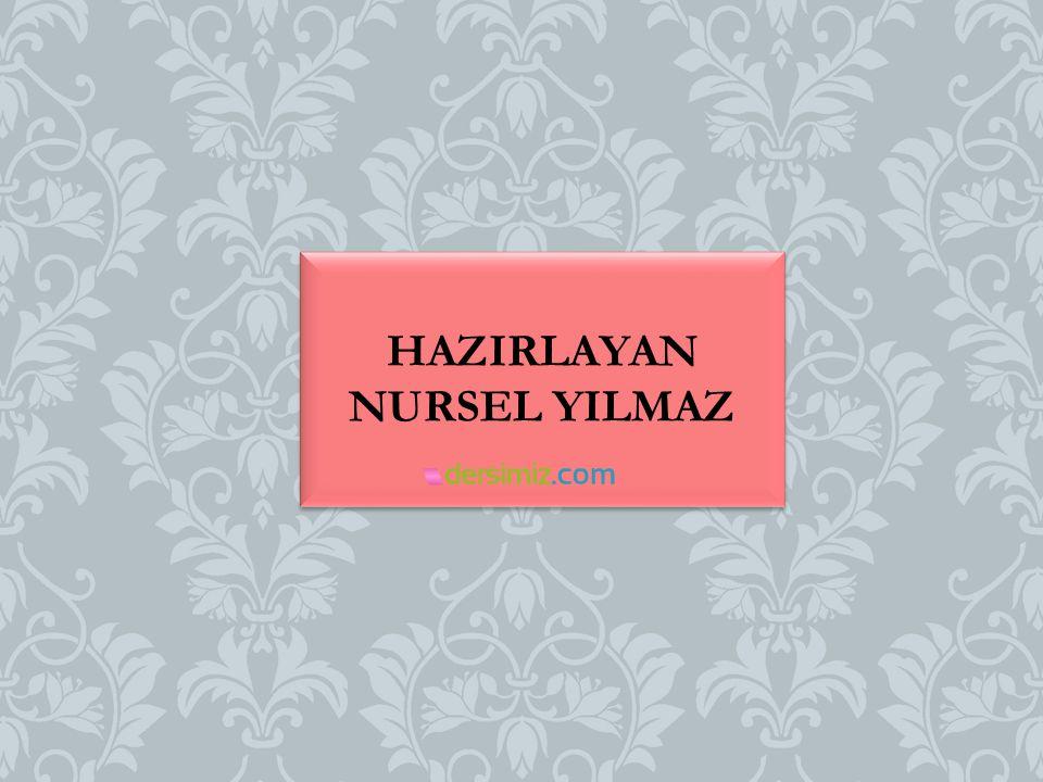 HAZIRLAYAN NURSEL YILMAZ