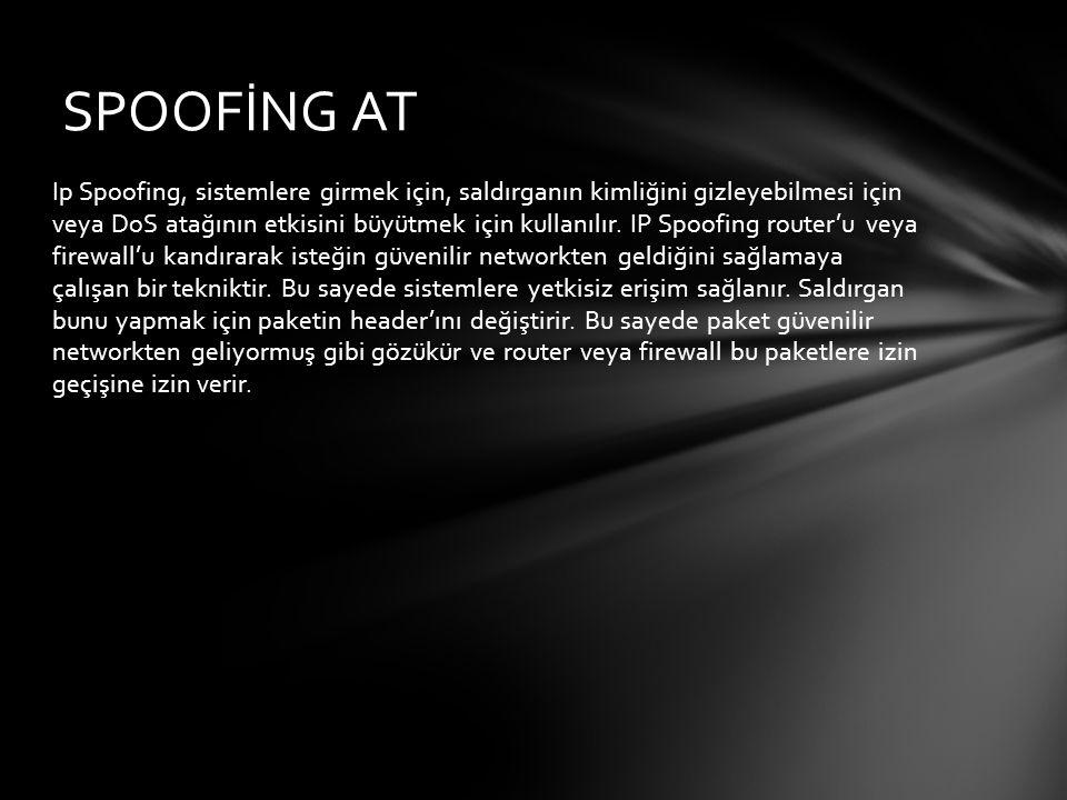 Snooping, ağ trafiğini dinleme protokolüdür.