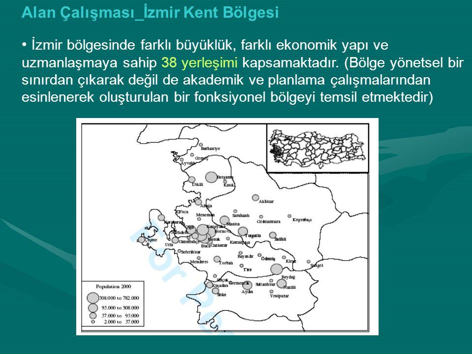 İzmir bölgesinin bu çalışma için önemi; 1980'lerden İhracat oryantasyonlu politikalar, finansal pazarın yeniden düzenlenmesi, ticari rejimler ile geçirdiği ekonomik dönüşümün bölgenin büyümesine sağladığı katkı.