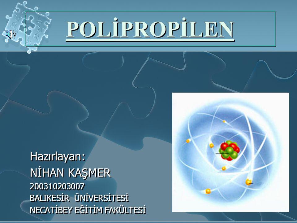 POLİPROPİLENİN GELECEĞİ Polipropilenin iyi bir kullanım araı olduğunu,karakteristik özelliklerini biliyoruz.Bunlara bakınca endüstride böyle bir malzemenin iyi bir pay alacağı bellidir.