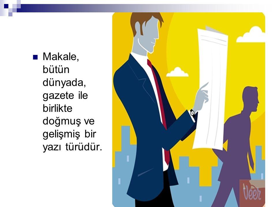 Türk basın hayatında ilk makale Şinasi'ye aittir.