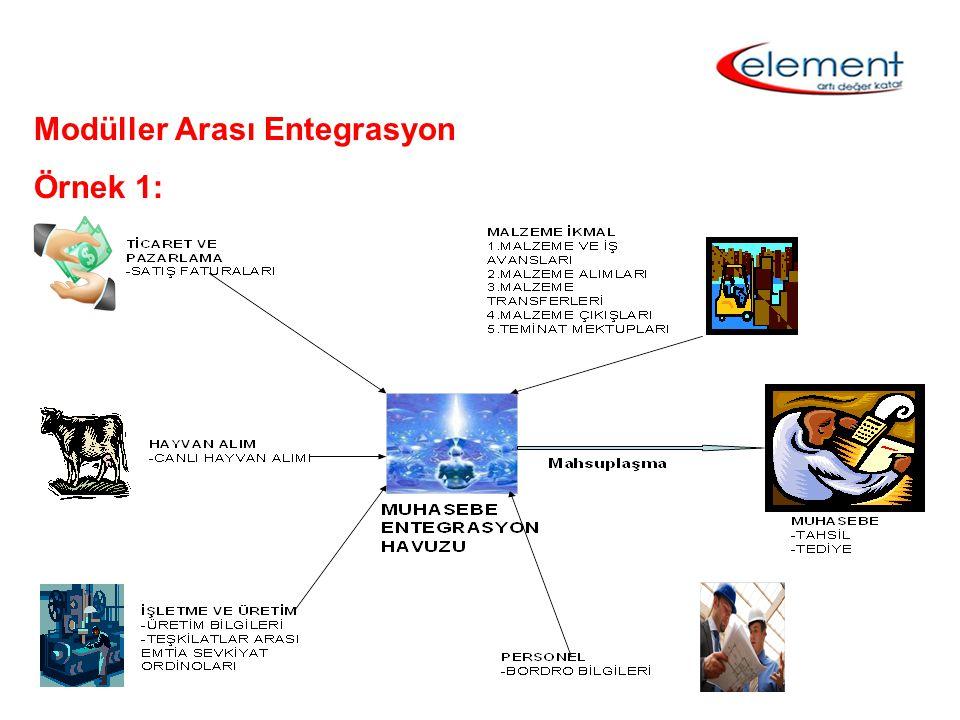 Modüller Arası Entegrasyon Örnek 1: