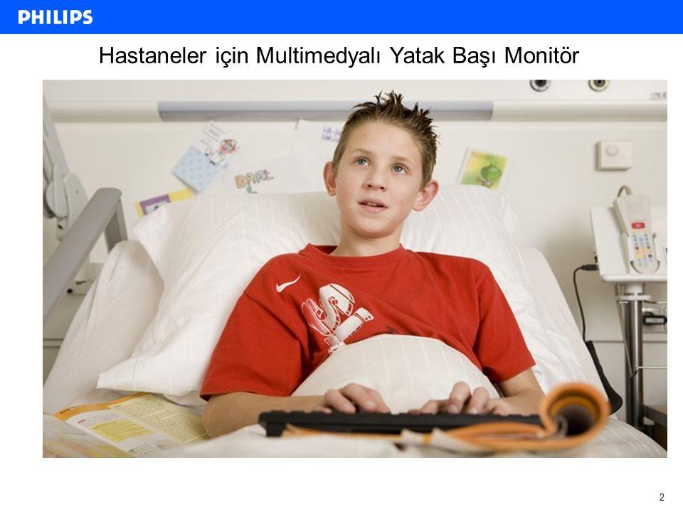 2 Hastaneler için Multimedyalı Yatak Başı Monitör