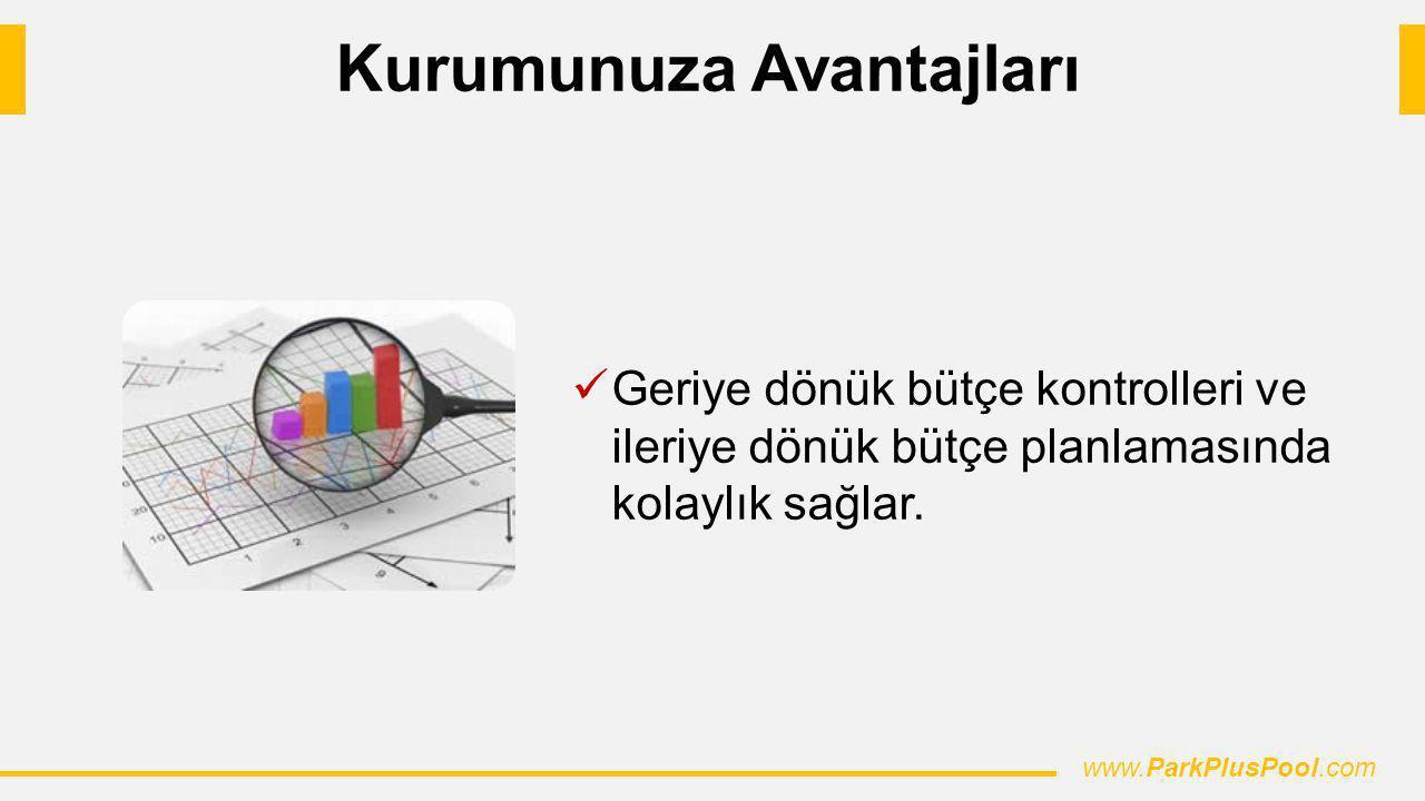 Geriye dönük bütçe kontrolleri ve ileriye dönük bütçe planlamasında kolaylık sağlar. www.ParkPlusPool.com