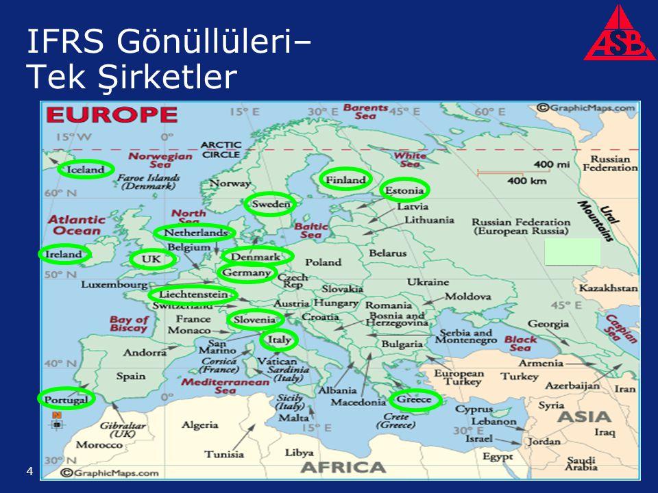 ©2005 Deloitte & Touche LLP. Private and Confidential 4 IFRS Gönüllüleri– Tek Şirketler