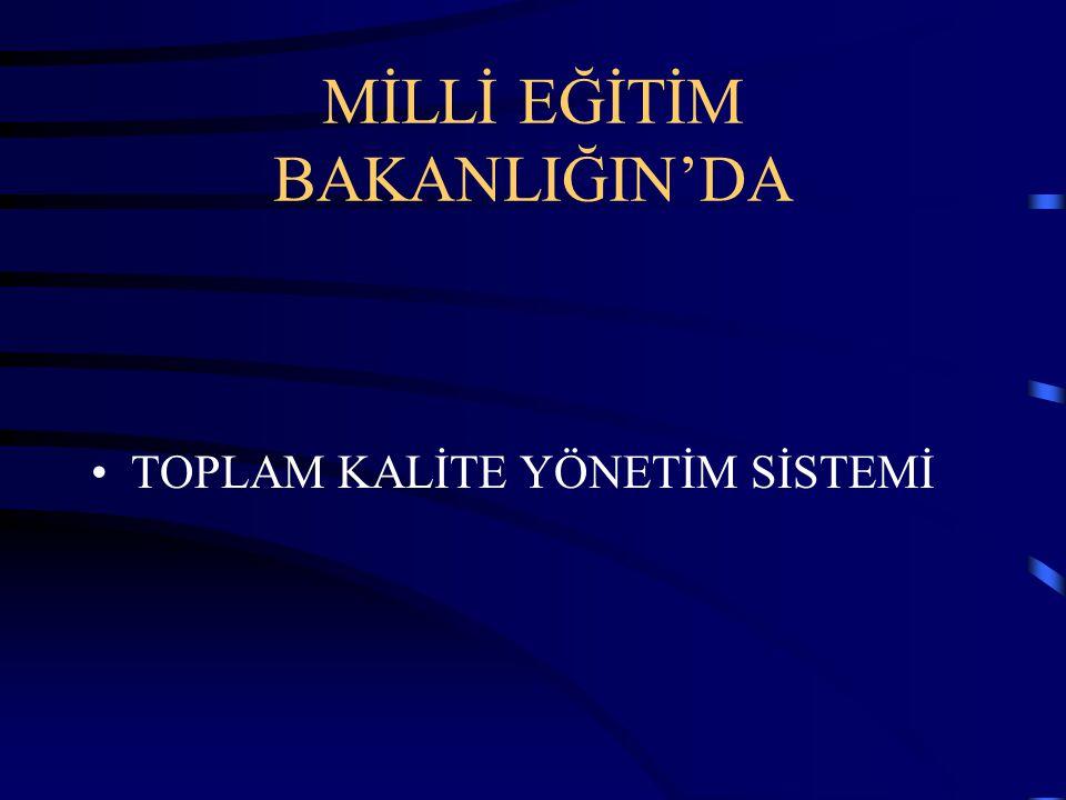 MİLLİ EĞİTİM BAKANLIĞIN'DA TOPLAM KALİTE YÖNETİM SİSTEMİ