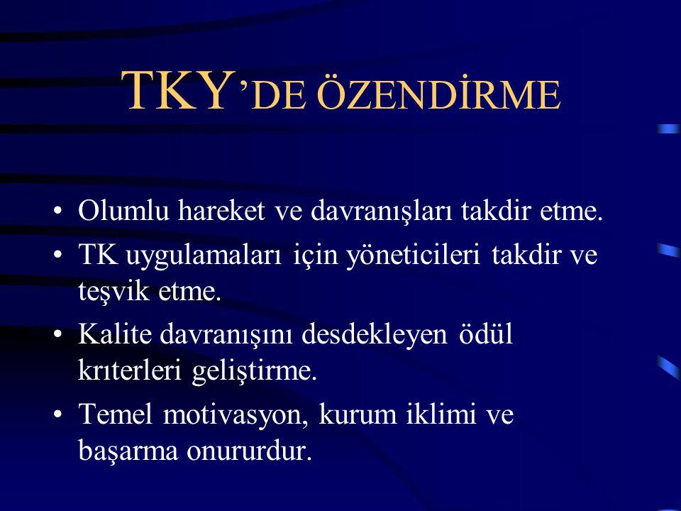 TKY 'DE ATILACAK ADIMLAR: Birim görevinin belirlenmesi.