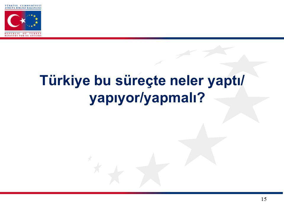Türkiye bu süreçte neler yaptı/ yapıyor/yapmalı? 15