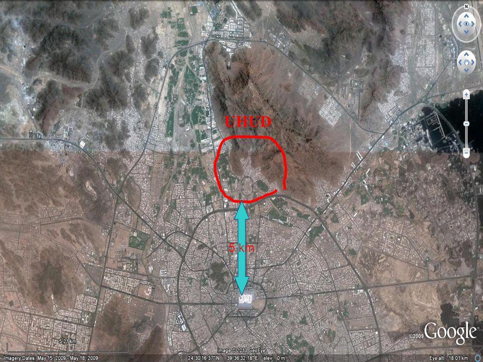 Uhud ile Hendek Savaşı Arasında Bir takım Gelişmeler; Medine ye yetmiş dört km.