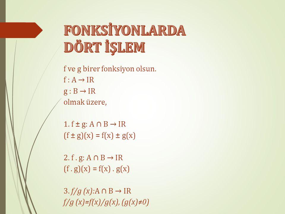 Şekilde A dan B ye tanımlanan f fonksiyonu f = {(a, 1), (b, 2), (c, 3), (d, 2)} biçiminde de gösterilir.  Her fonksiyon bir bağıntıdır. Fakat her bağ