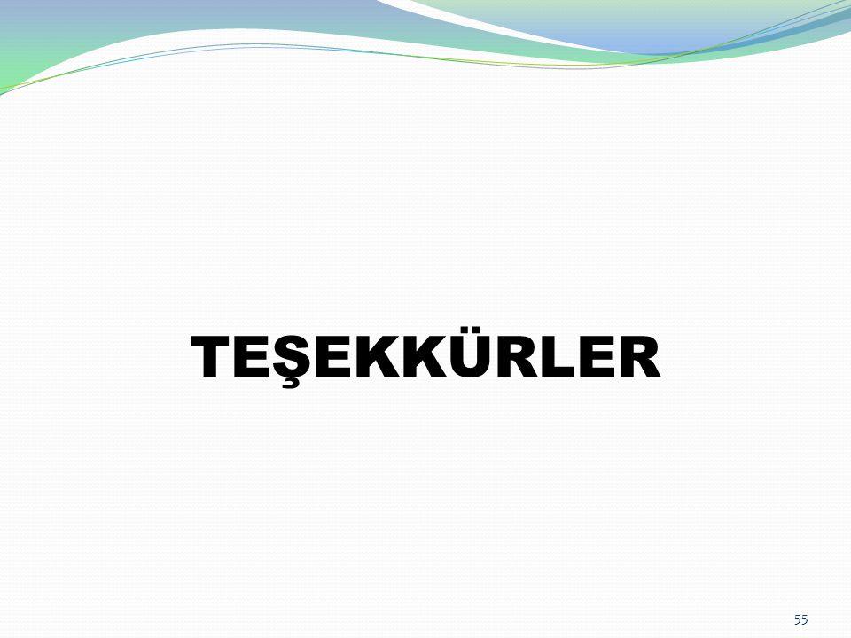 55 TEŞEKKÜRLER