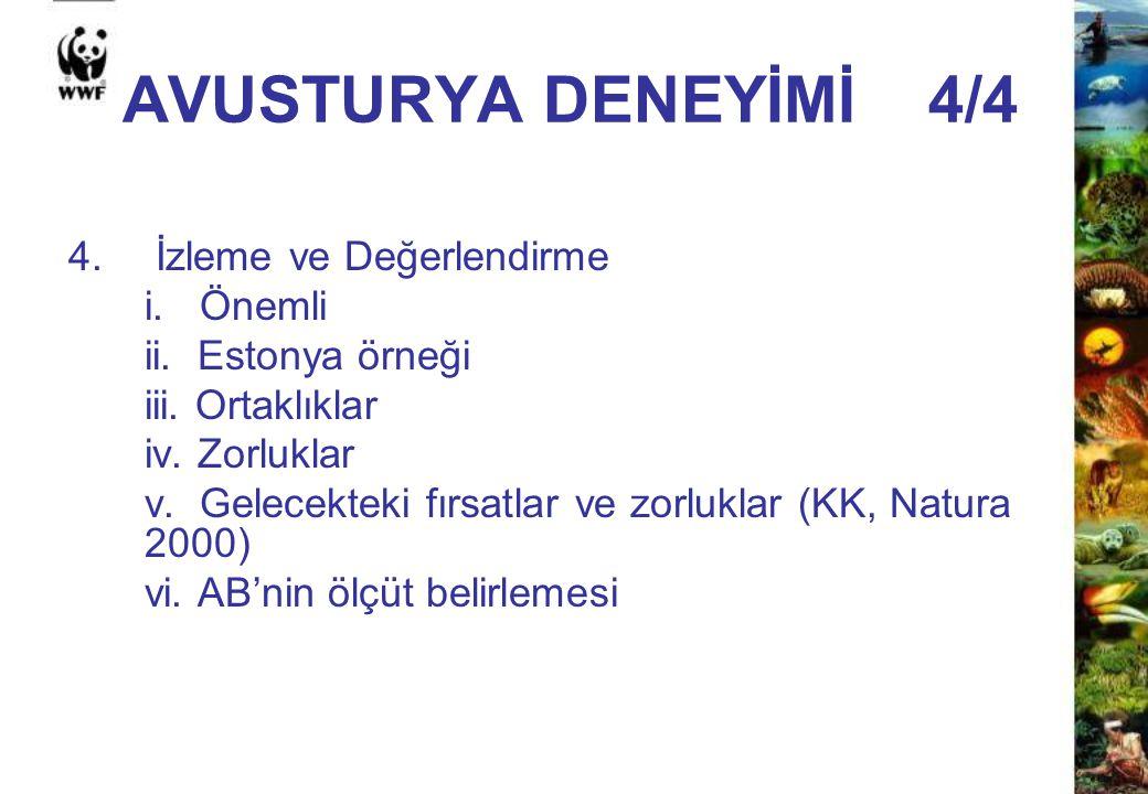 AVUSTURYA DENEYİMİ 4/4 4. İzleme ve Değerlendirme i. Önemli ii. Estonya örneği iii. Ortaklıklar iv. Zorluklar v. Gelecekteki fırsatlar ve zorluklar (K