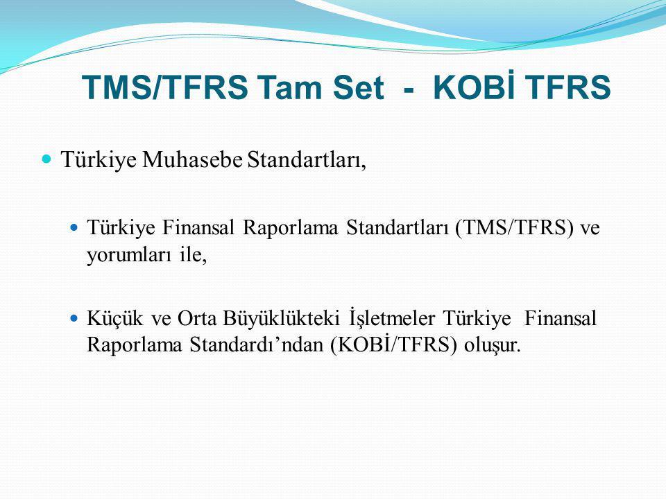 TMS/TFRS Tam Set - KOBİ TFRS Türkiye Muhasebe Standartları, Türkiye Finansal Raporlama Standartları (TMS/TFRS) ve yorumları ile, Küçük ve Orta Büyüklü