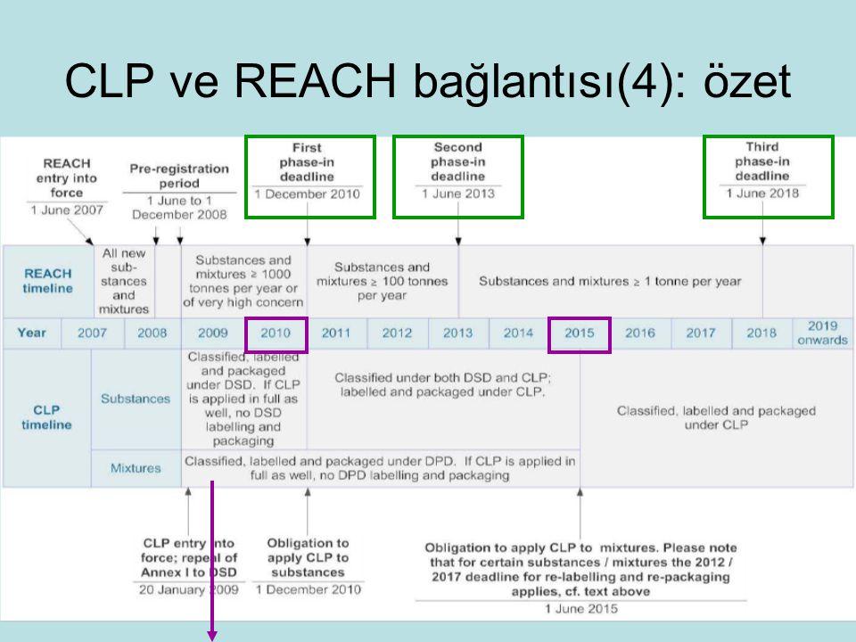 CLP ve REACH bağlantısı(4): özet