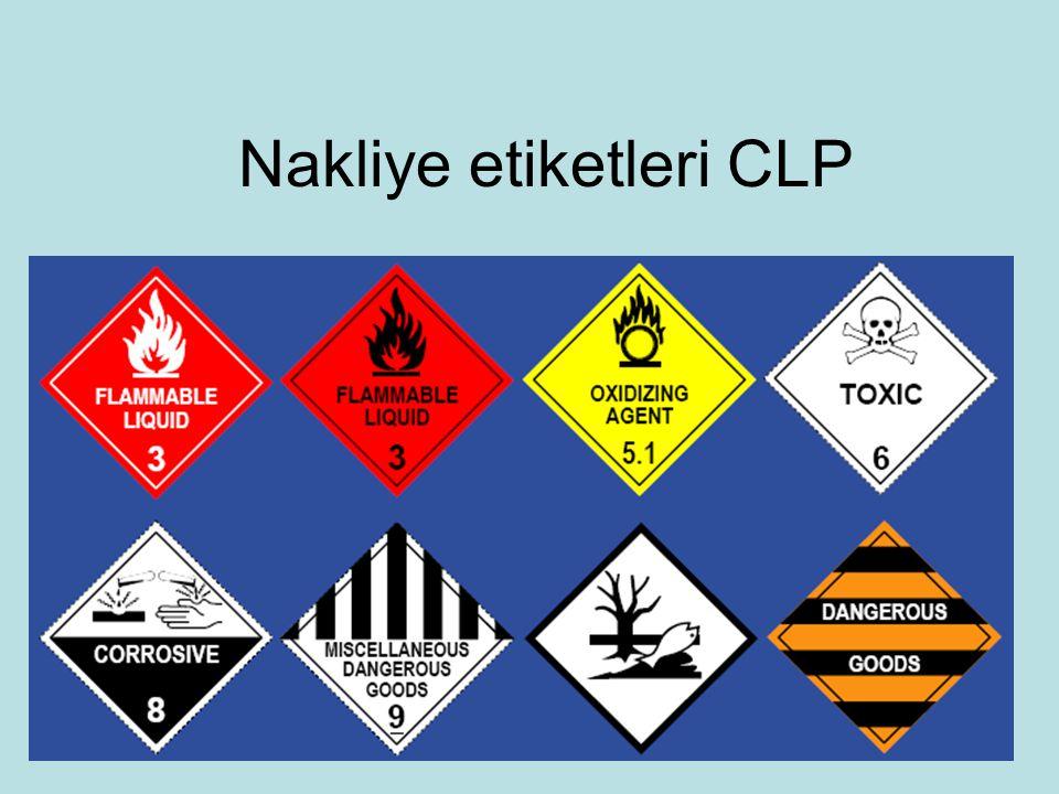 Nakliye etiketleri CLP