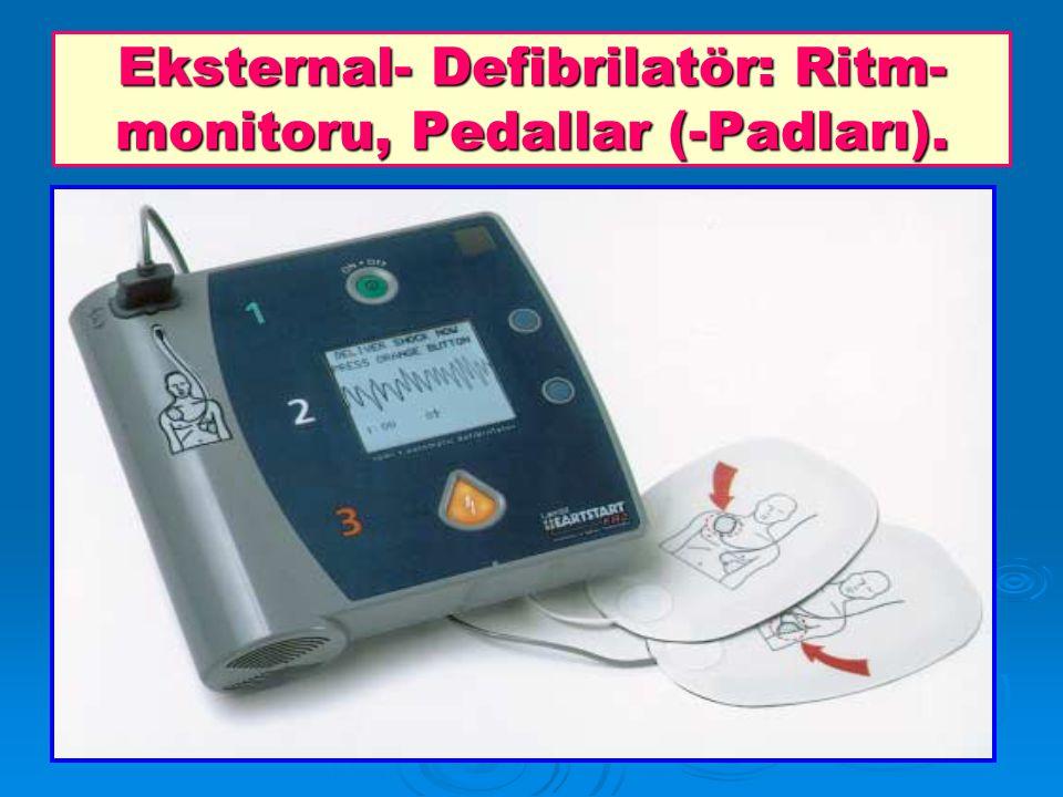 Eksternal- Defibrilatör: Ritm- monitoru, Pedallar (-Padları).