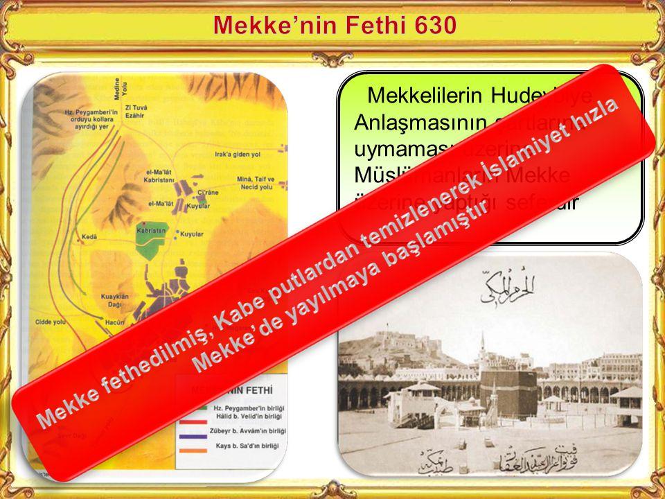 Medine'deki Müslümanların haram aylarda Mekke'yi ziyaret için yola çıkması üzerine Mekkelilerle Hudeybiye'de yapılan anlaşmadır. -İki taraf birbiri il