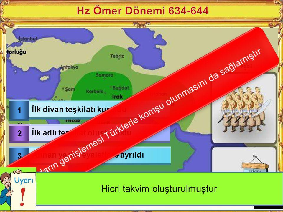 1 Kur'an-ı Kerim Kitap haline getirildi 2 Hz Muhammed öldükten sonra çıkan karışıklılar önlendi 3 Arap Yarım Adası dışında fetihler başladı Kur'an-ı K