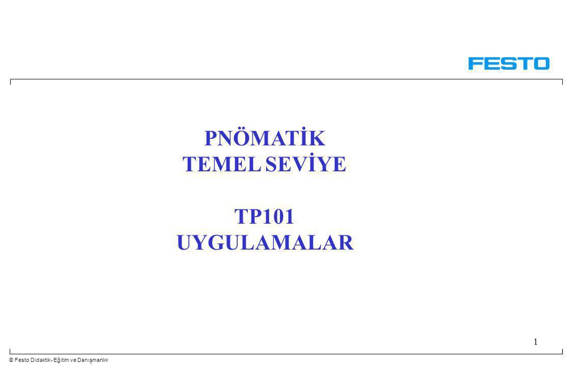 © Festo Didaktik- Eğitim ve Danışmanlık 1 PNÖMATİK TEMEL SEVİYE TP101 UYGULAMALAR