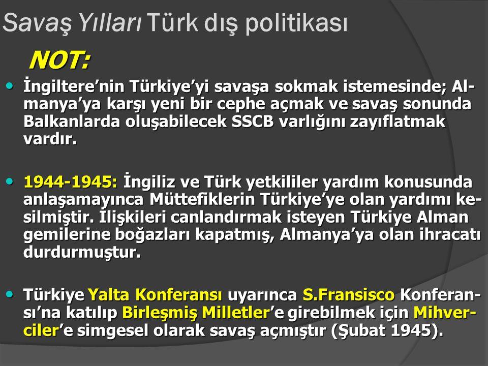 Savaş dönemi Türk dış politikası 1942-1943: Almanların Stalingrad yenilgisi Türkiye'nin savaşa girmesi için baskıları daha da artırmıştır. 1942-1943: