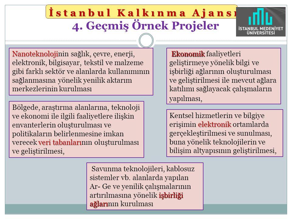 İstanbul Kalkınma Ajansı İstanbul Kalkınma Ajansı 4. Geçmiş Örnek Projeler Nanoteknoloji Nanoteknolojinin sağlık, çevre, enerji, elektronik, bilgisaya