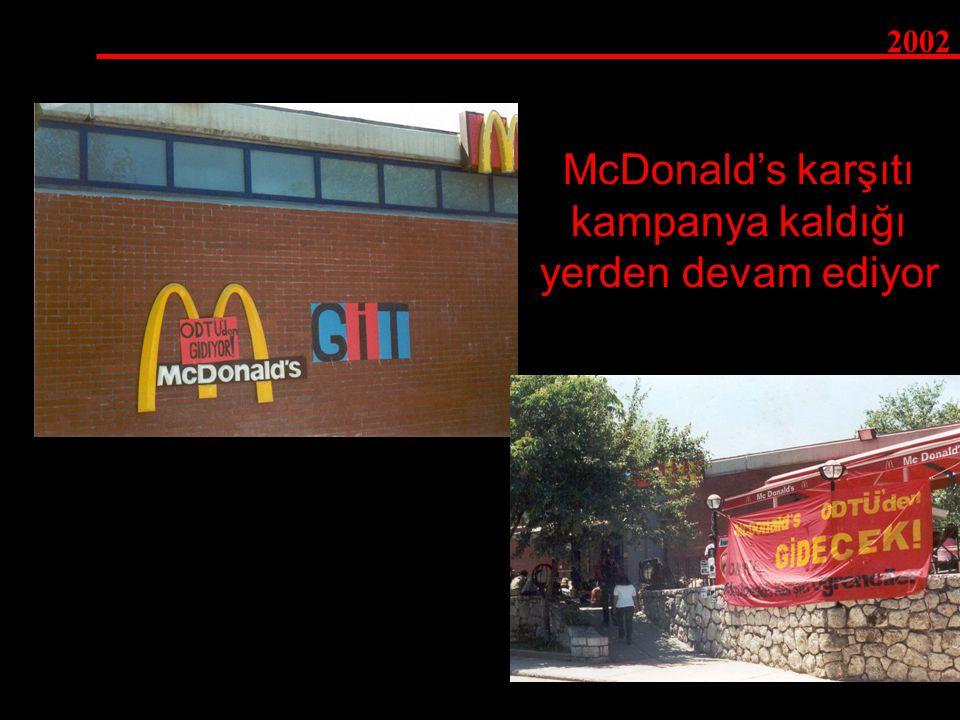 2002 McDonald's karşıtı kampanya kaldığı yerden devam ediyor