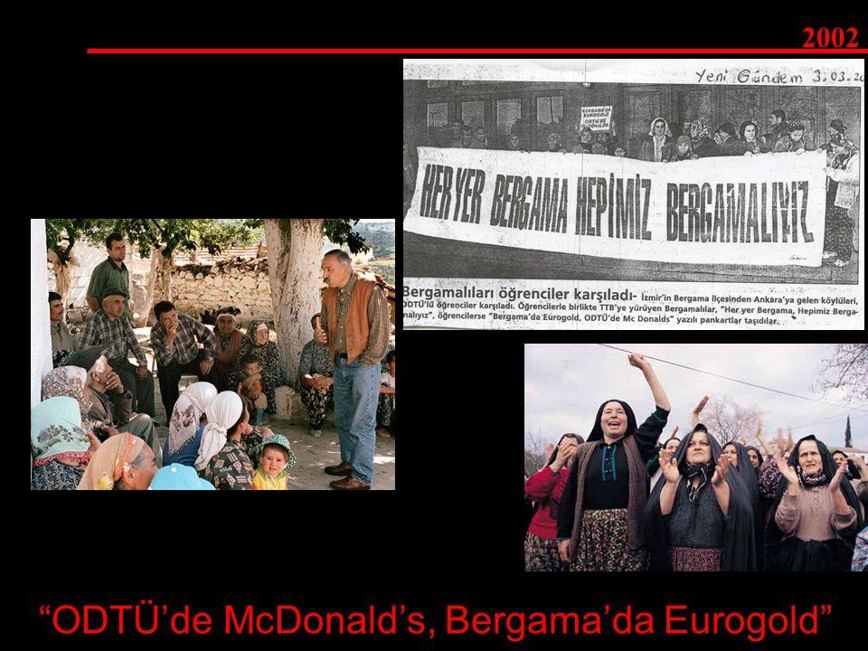 """ODTÜ'de McDonald's, Bergama'da Eurogold"" 2002"