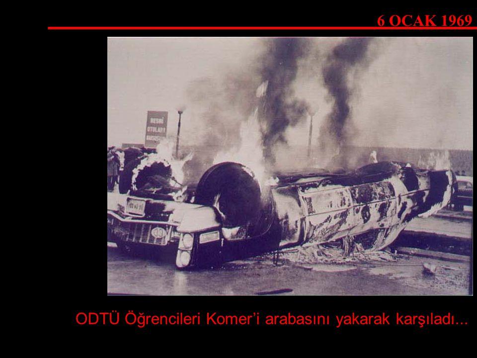 ODTÜ Öğrencileri Komer'i arabasını yakarak karşıladı...