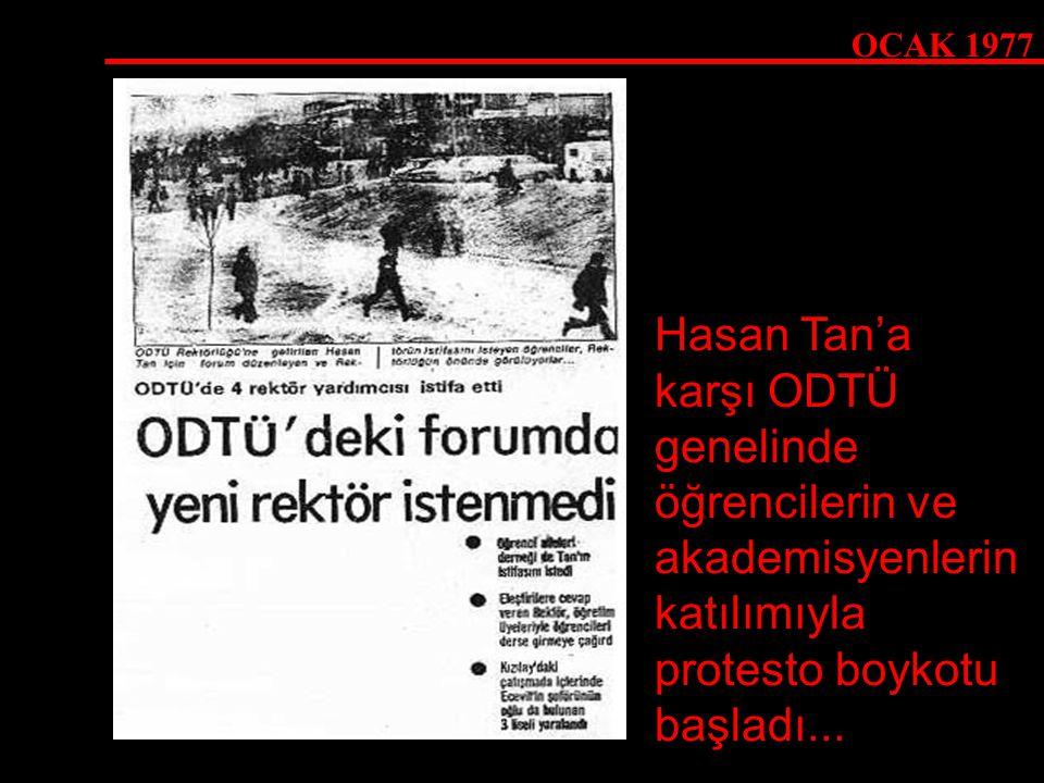 Hasan Tan'a karşı ODTÜ genelinde öğrencilerin ve akademisyenlerin katılımıyla protesto boykotu başladı...